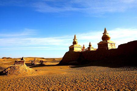 G线:神秘黑水城、灿烂胡杨林、巴丹吉林沙漠六日游(银川集结)