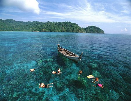 H;普吉岛·快艇PP岛+帝王岛·娜蒂哇国家森林公园漂流·六天四晚度假团