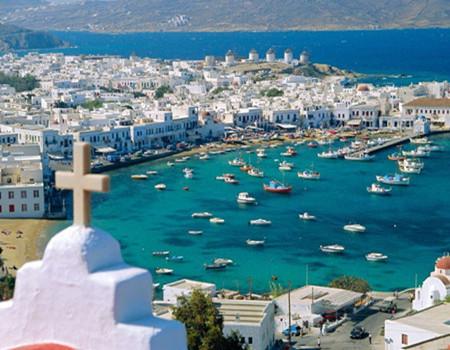 【情醉爱琴-轮渡】希腊(米可诺斯岛 圣淘维尼岛)十天