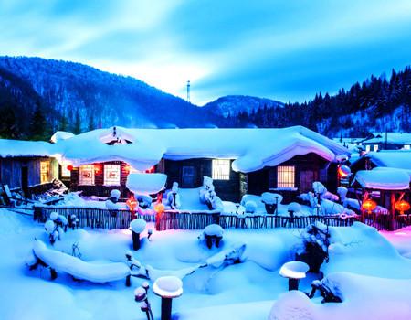 Y;冰城哈尔滨.中国雪乡.亚布力顶级滑雪.虎峰岭.双飞5天尊享团