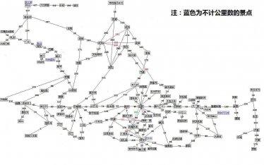西藏旅游景点线路地图