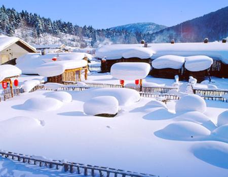X-童话雪乡;冰城哈尔滨.童话雪乡.朝鲜民俗村.亚布力孔雀园.激情滑雪双飞5日游